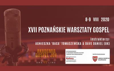 XVII Poznańskie Warsztaty Gospel 8 – 9 VIII 2020